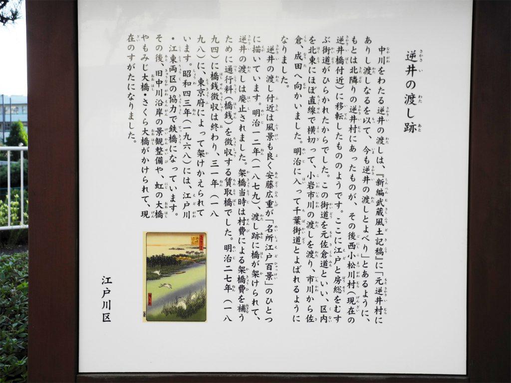 画像 「逆井の渡し跡」案内板