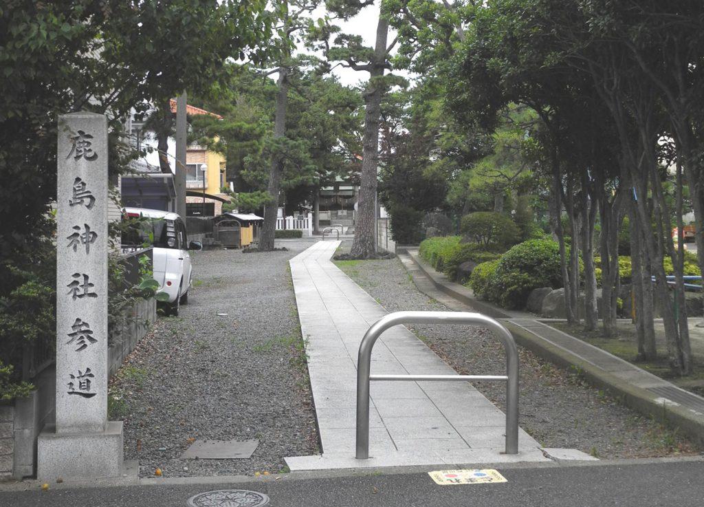 画像 鹿骨鹿島神社の参道