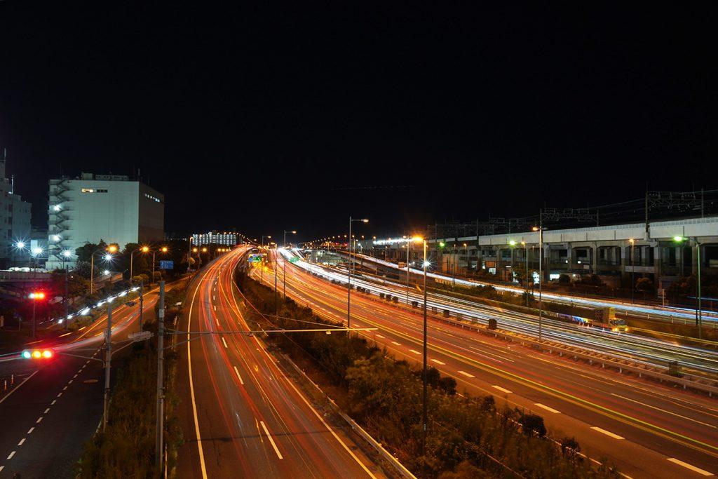 画像 首都高速湾岸線の夜景(江戸川区)