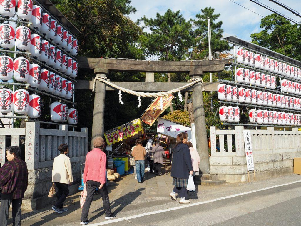 画像 花畑大鷲神社の入口