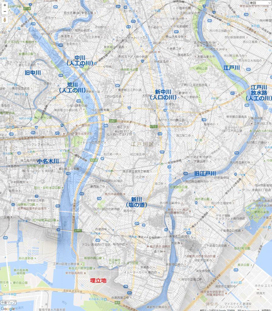 画像 1909年と2016年の地図を重ねた図
