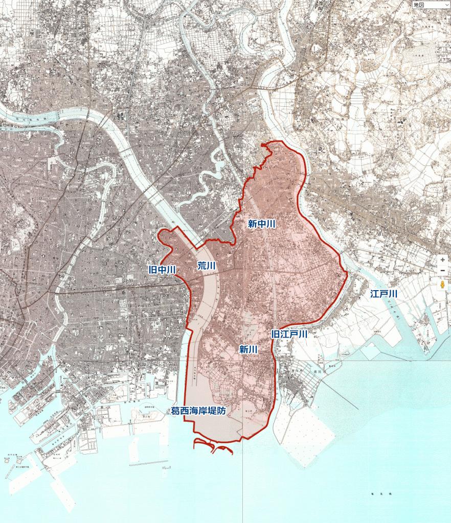 画像 1966年の江戸川区周辺の地図